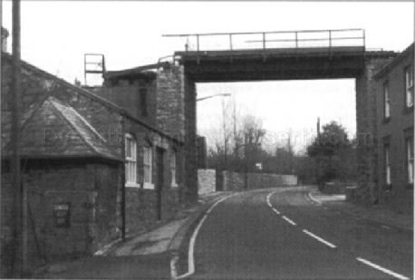 The old quarry railway, crossing the main road, Dyserth