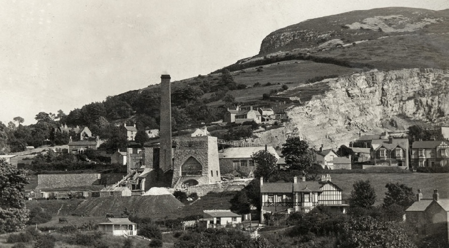 Dyserth Lime Works, from a postcard posted in 1910